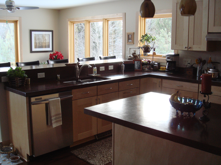 Concrete Countertops Are A Cost Efficient Option.